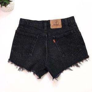 Vintage Levi's Denim Shorts Size 10